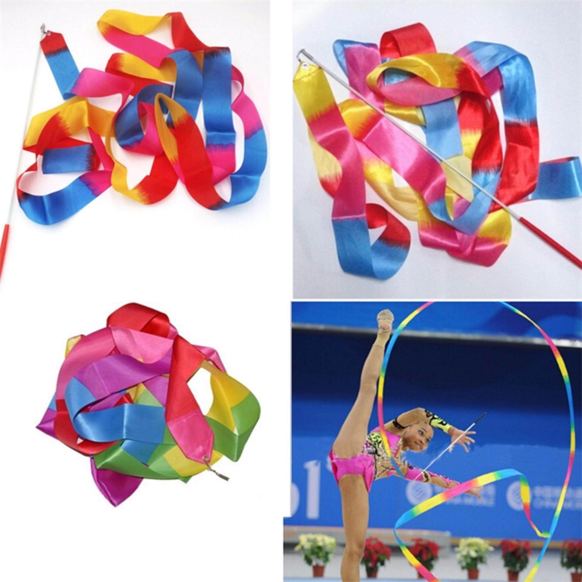 4m Kids Dance Ribbon Gym Rhythmic Art Gymnastic Ballet Streamer Twirling Rod By Mimar Upup.