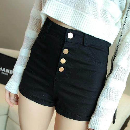 Denim Shorts Spring And Summer Of Korean Slim Waist Stretch Denim Shorts Crimping Large Breasted Thin Pants Leisure Code By Keep Going.
