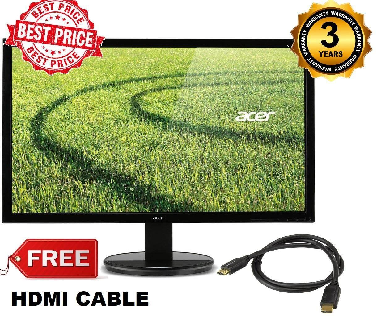(Cheapest) Acer LED Monitor 19.5 K202HQL Abix HDMI/VGA OUTPUT FREE HDMI CABLE Malaysia