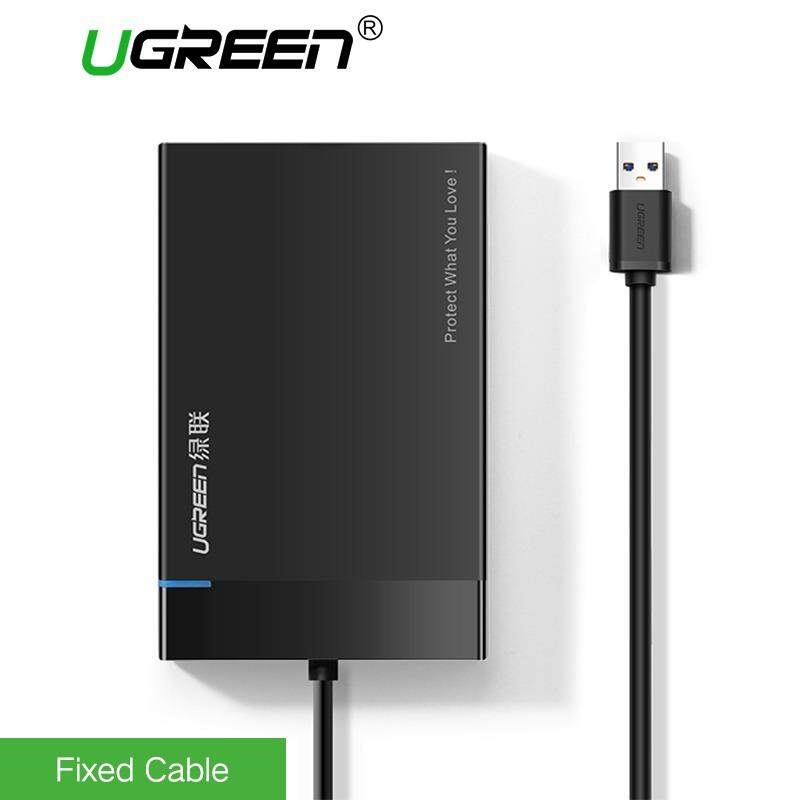 {Free Gift Bag}UGREEN External HDD SATA Case, USB 3.0 Enclosure for 2.5 9.5mm 7mm SSD HDD SATA I / II / III UASP Supported Compatible with WD, Toshiba, Seagate, Samsung, Hitach (2.5 inch) Malaysia