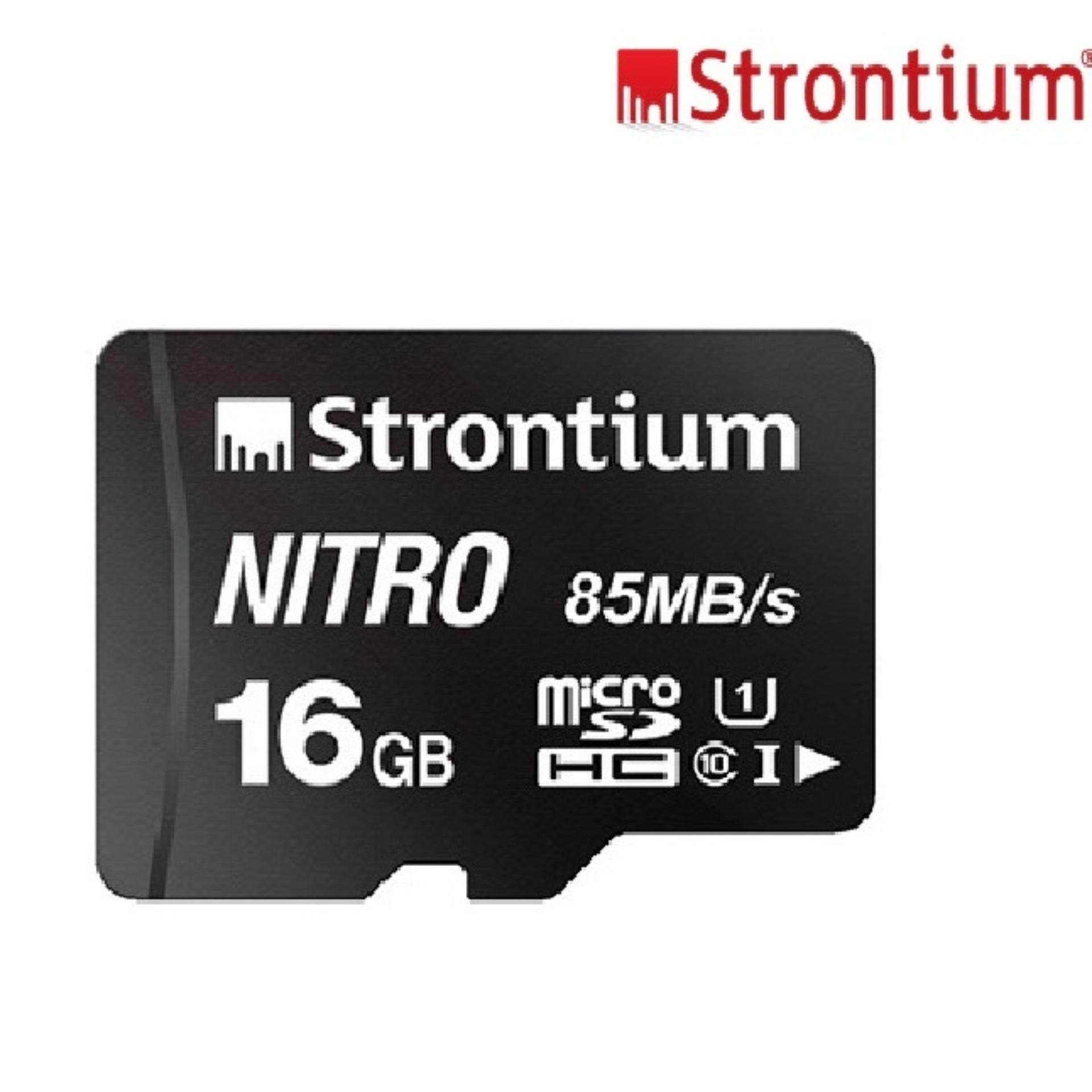 16gb Strontium Nitron 85mb/s Original Memory Card Class 10 Mirco Sdhc Sd Card Ultra Fast Speed Transfer By Dawell.