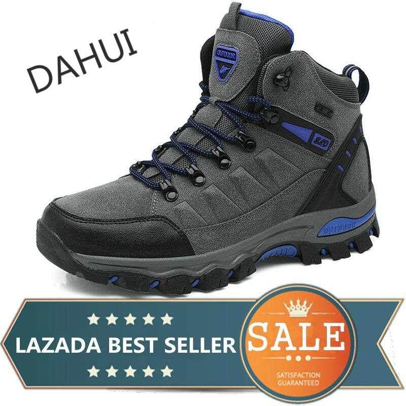 e95972efc03 Men And Women Outdoor Hiking Shoes Waterproof non-slip Trekking Shoes  Unisex Size (Dark Grey)