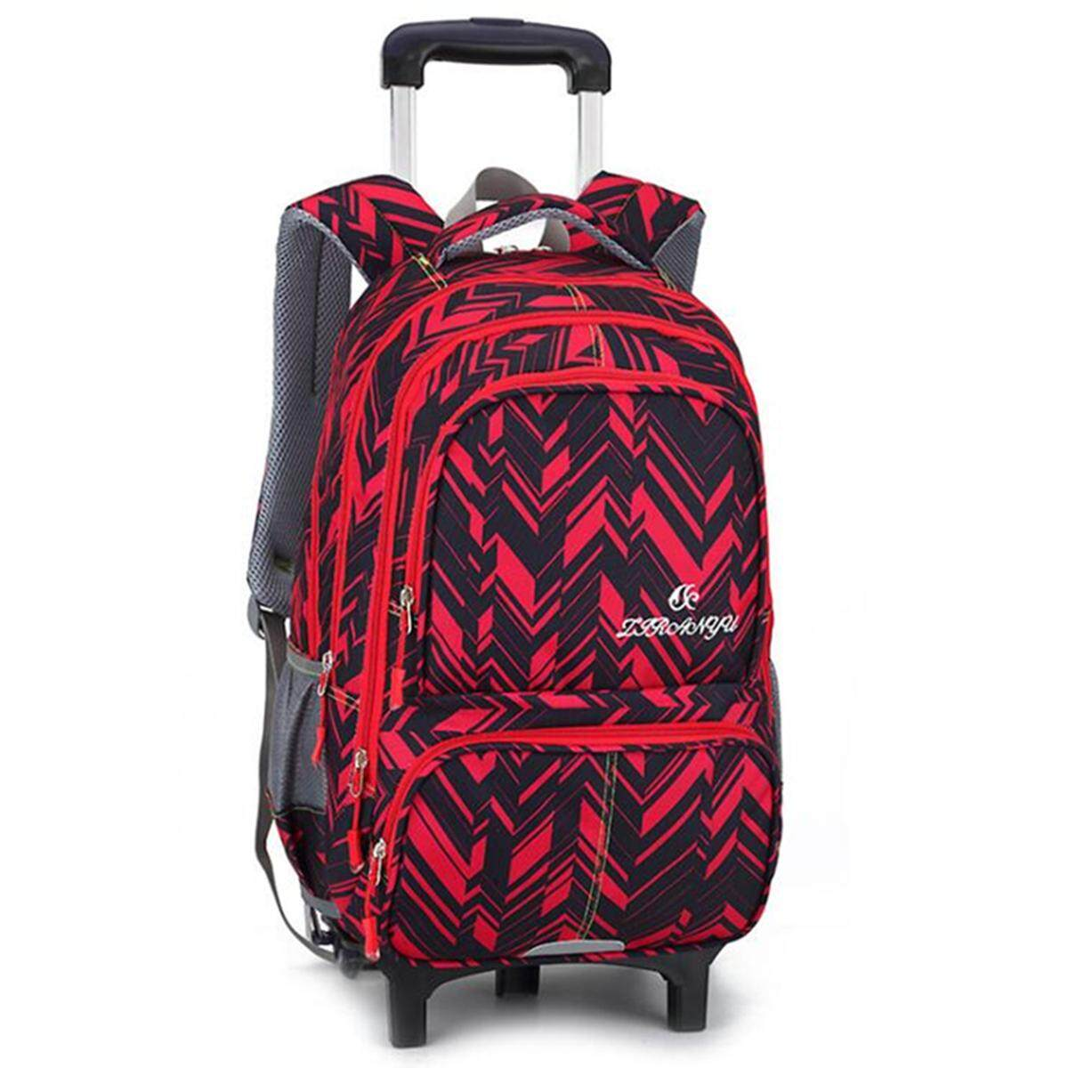 5265ee1ed8 Kid 2 6 Wheels Detachable Travel Trolley Luggage Backpack Student School Bag   2 wheel