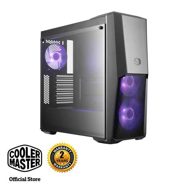 Cooler Master MasterBox MB500 RGB ATX Gaming Case with Semi-meshed Front Panel Design Malaysia