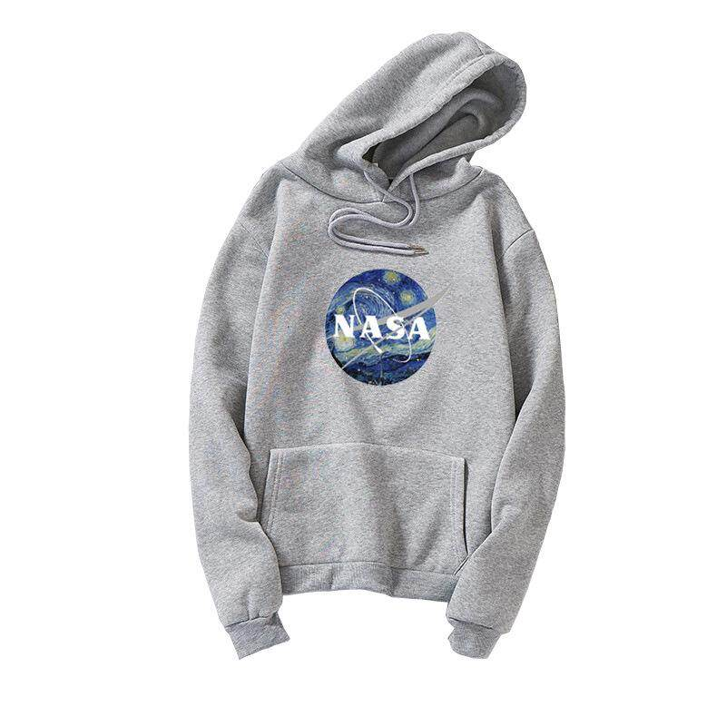6d687acdf605bb Yta Autumn Winter 2018 new Men s and American fashion brand hooded head  NASA print men s