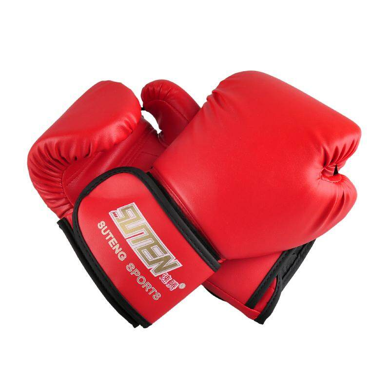 Suteng Pu Leather Sport Training Equipment Boxing Gloves(red) By Greatbuy888.