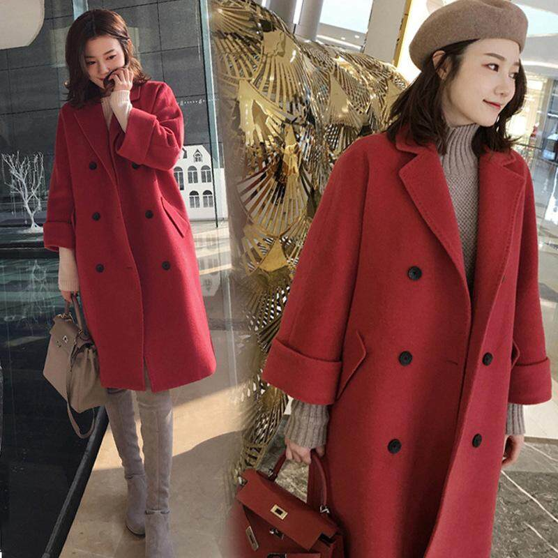 Large Size Womens Clothing Woolen Coat Thick Loose Woolen Coat By Cryatal.