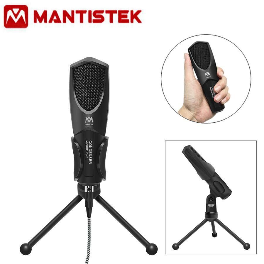 Mantistek Omnidirection USB Double Condenser Microphone Studio Recording+ Tripod