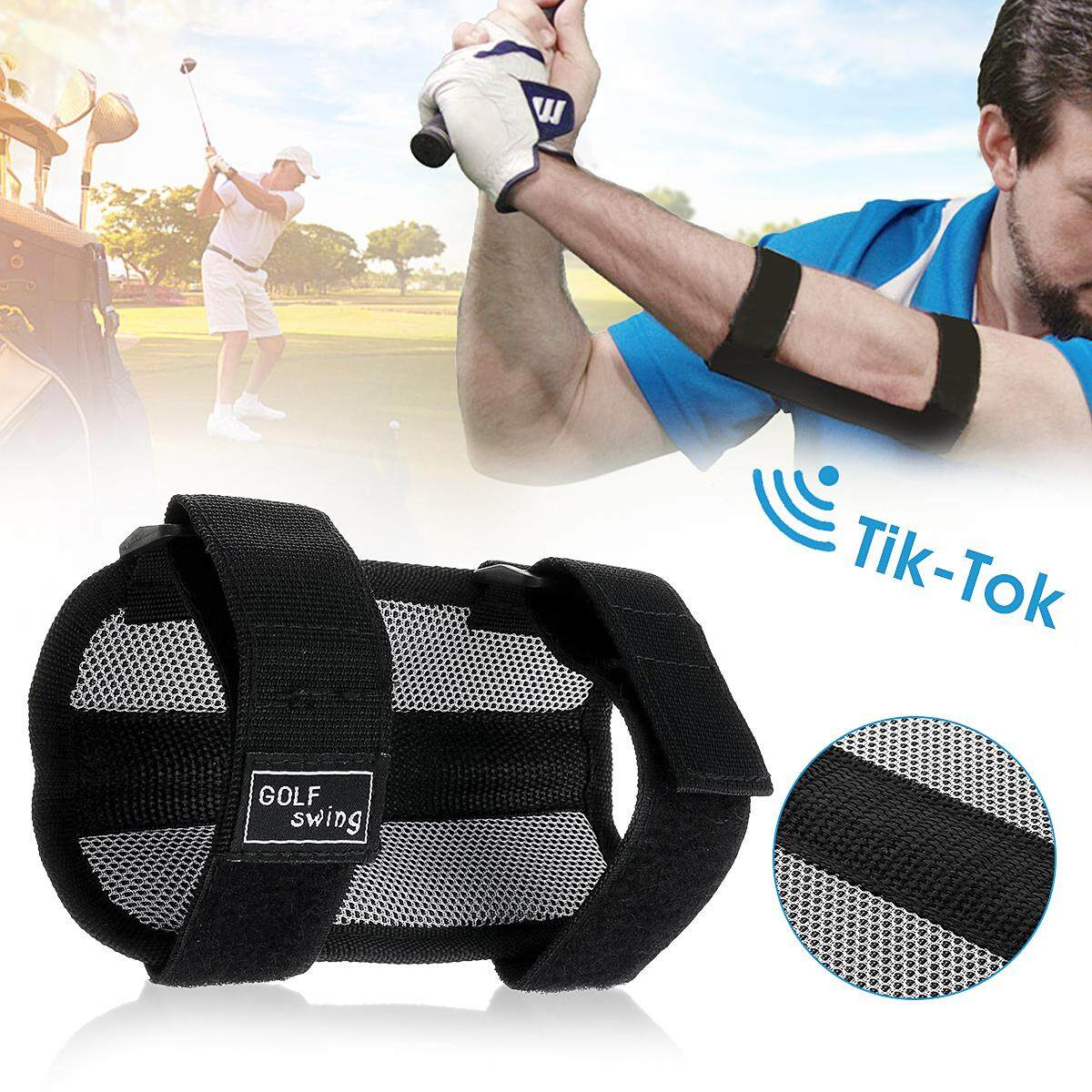 Golf Swing Gesture Practice Training Aids Elbow Support Brace Arm Band Trainer By Audew.