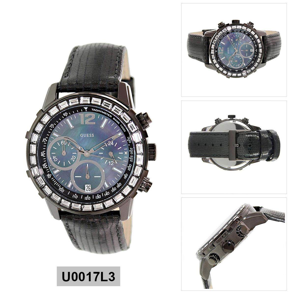 Guess Watches Price In Malaysia Best Lazada Sandal Kulit Pria Rc237 Quartz Black Stainless Steel Case Leather Strap Ladies U0017l3