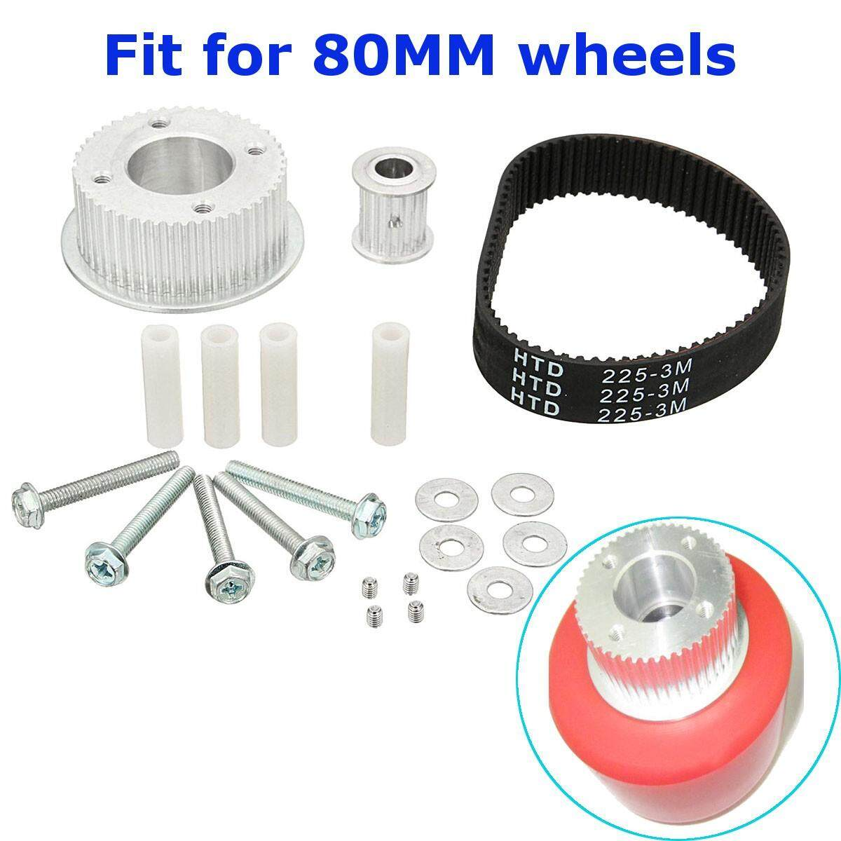 Drive Kit Parts Pulley And Motor Mount For 80MM Wheels Electric Skateboard