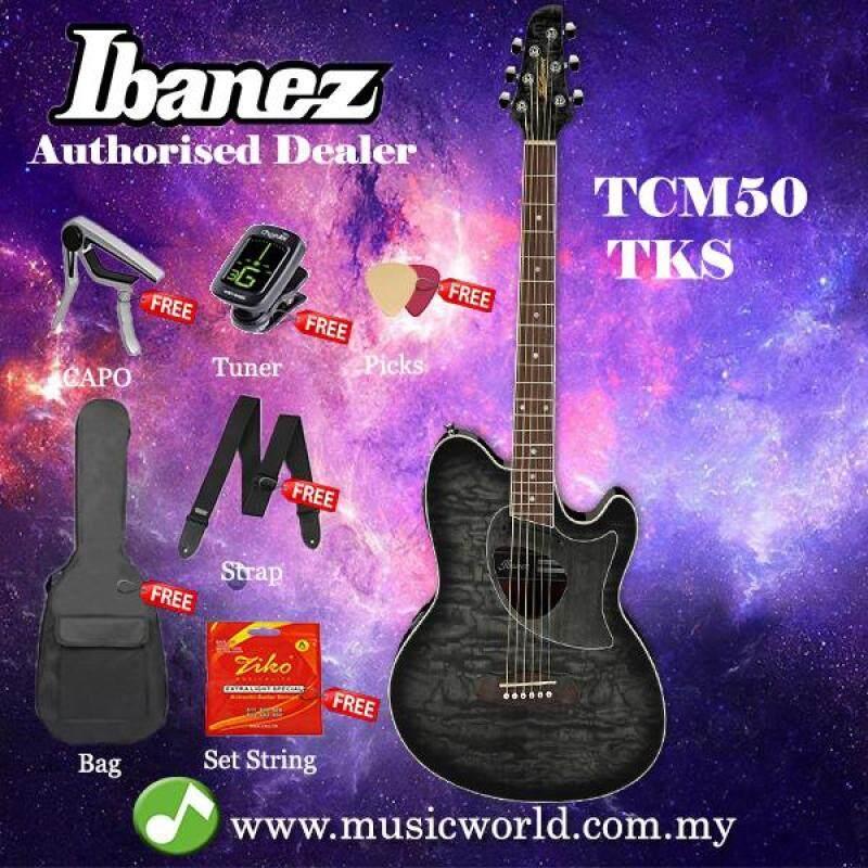 Ibanez Talman TCM50-TKS Transparent Black Sunburst Acoustic-Electric Guitar (TCM50) Malaysia