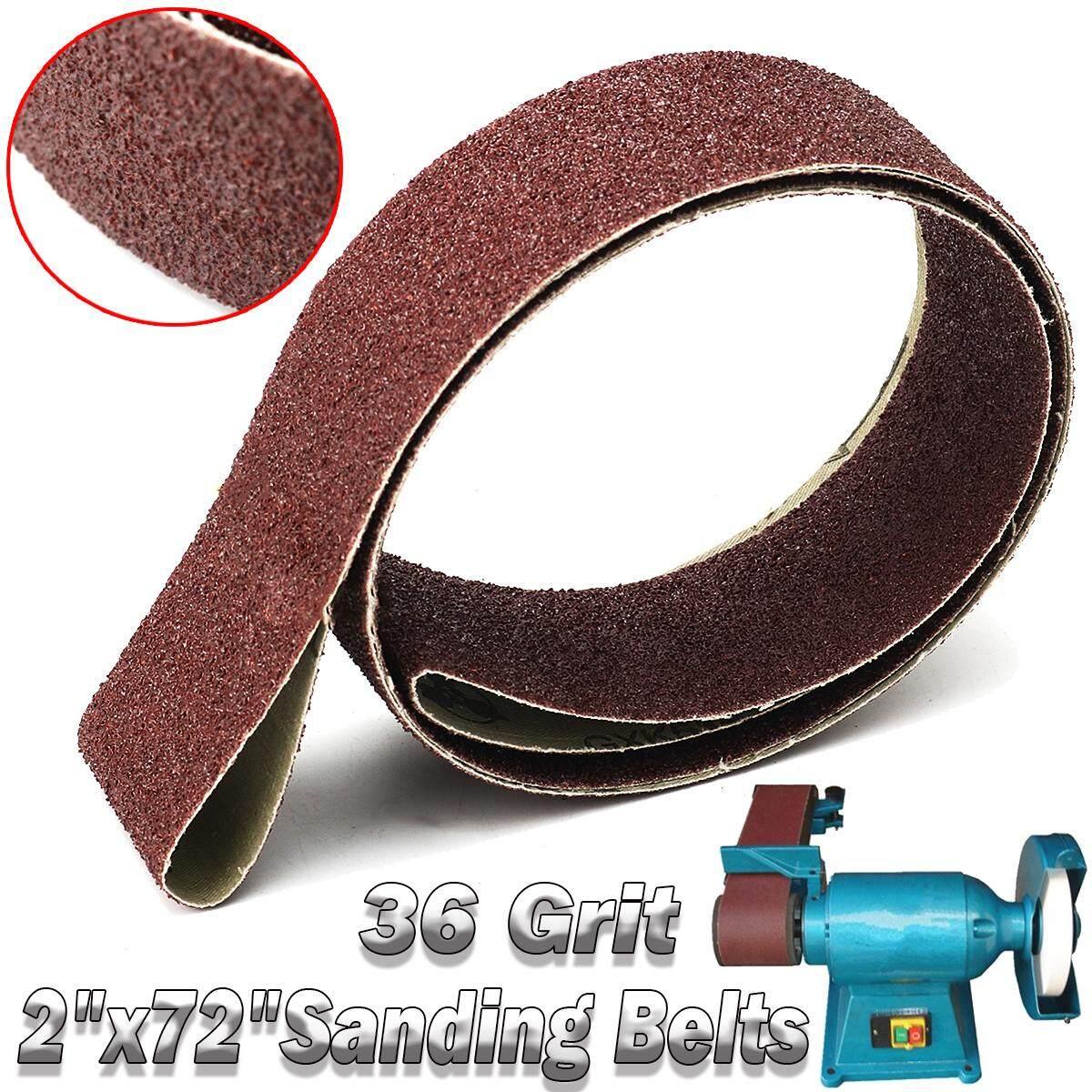 1PC Aluminum Oxide 2 x 72 Sanding Belts 36 Grit Sharpening Oxide Abrasive Strips