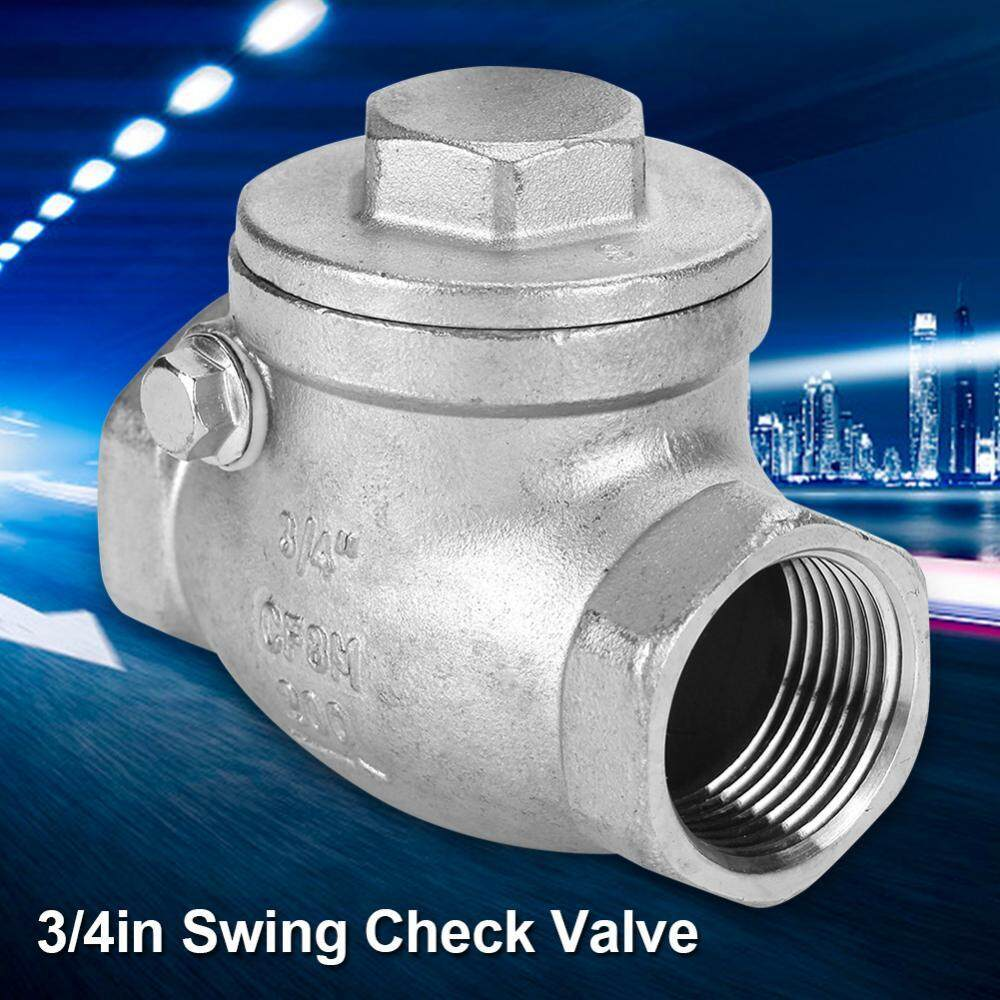 3/4 DN20 Stainless Steel One Way Swing Check Valve Female Thread WOG 200PSI