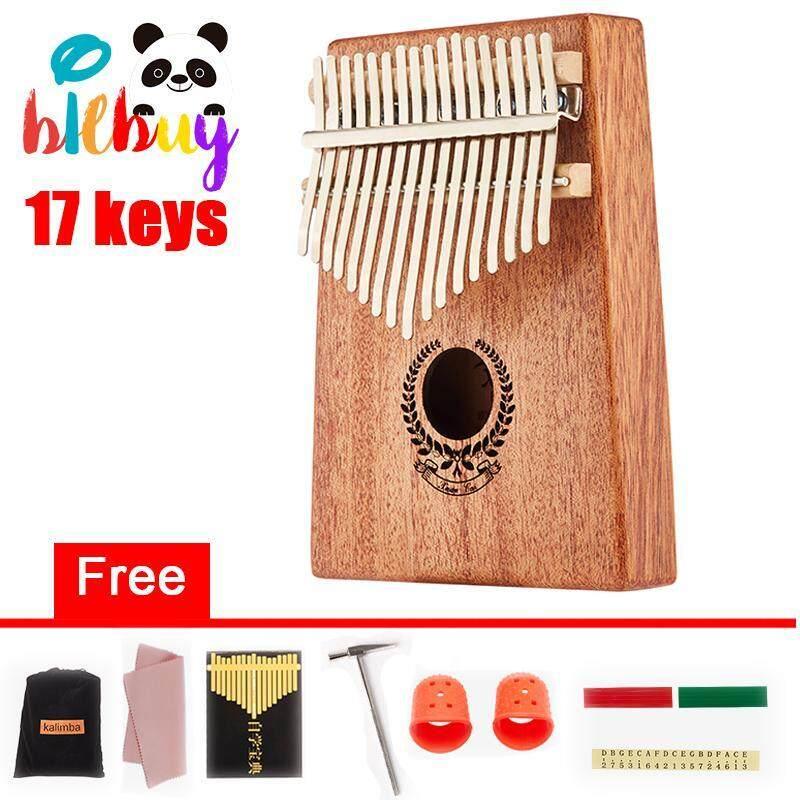 Kalimba 17 Keys Wooden Portable Professional Thumb Piano Mahogany Wreath Style (8 Gifts) Malaysia