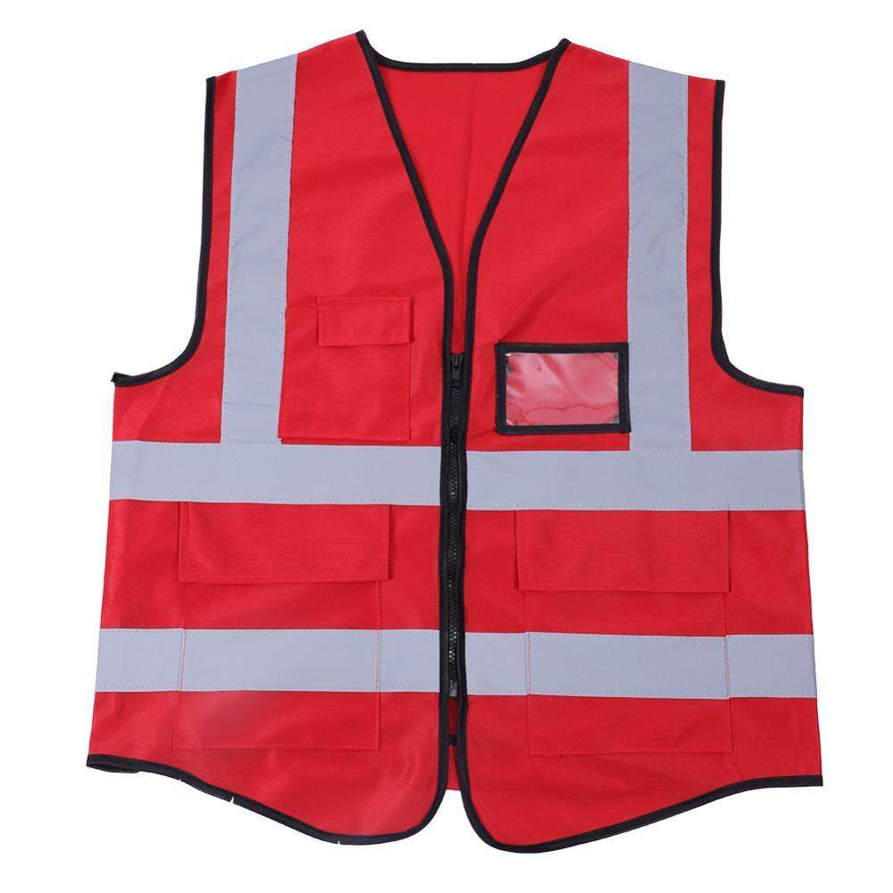 Shanyu Multicolor Reflective Vest Safety Security Waistcoat (Red)