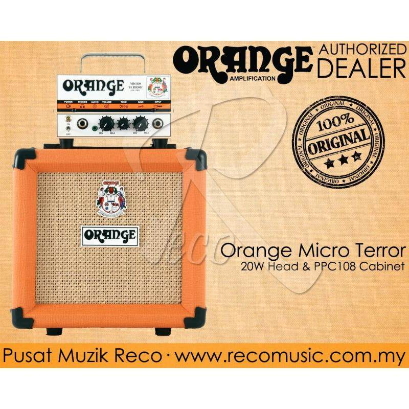 Orange MT20 Micro Terror Head Guitar Amp 20W and PPC108 Cabinet Malaysia