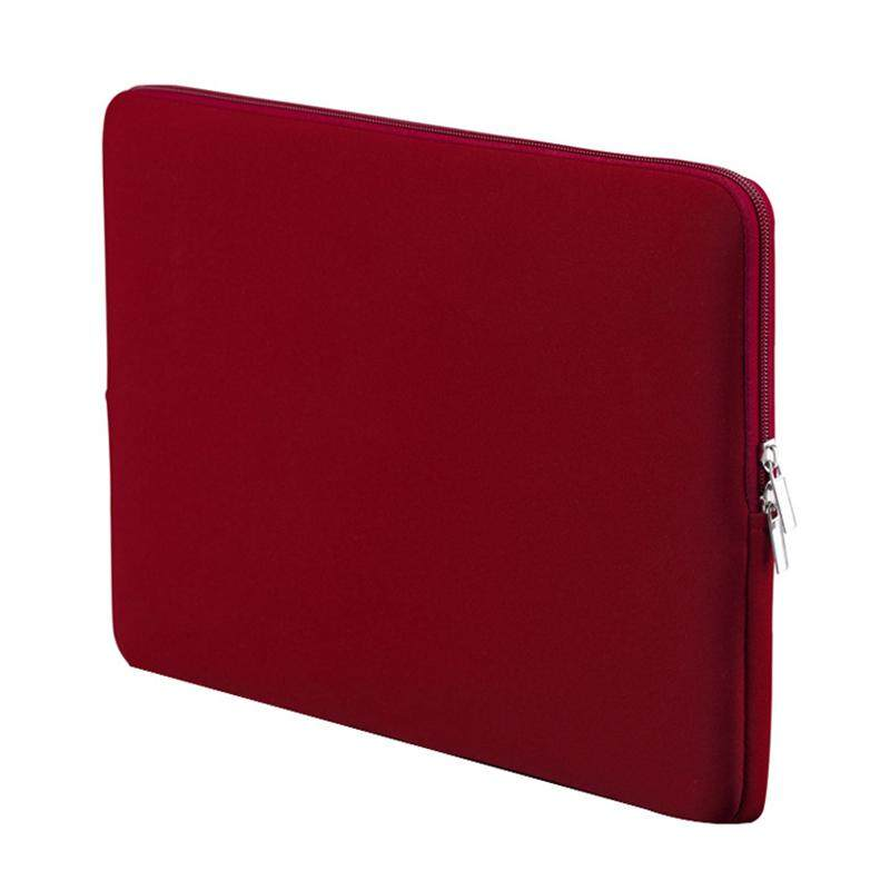 13 Inch Korean Style Portable Zipper Soft Sleeve Laptop Pouch Bag For Notebook Computer Case For Macbook Air Pro Retina- Wine Red By Jonesmayer.