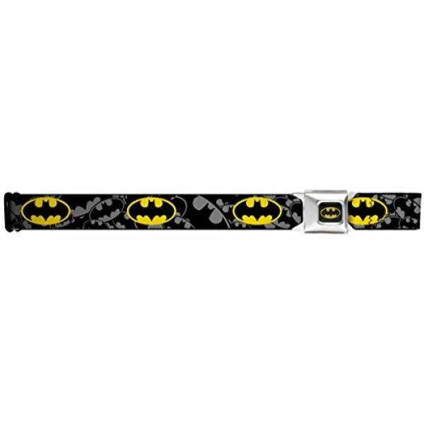 Buckle-Down Belt Seatbelt Buckle Batman Black Yellow Logo Mens Womens Kids Adjustable