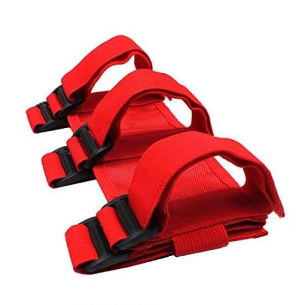 iFJF Adjustable Roll Bar Fire Extinguisher Holder for 07-18 Wrangler JK(Red)
