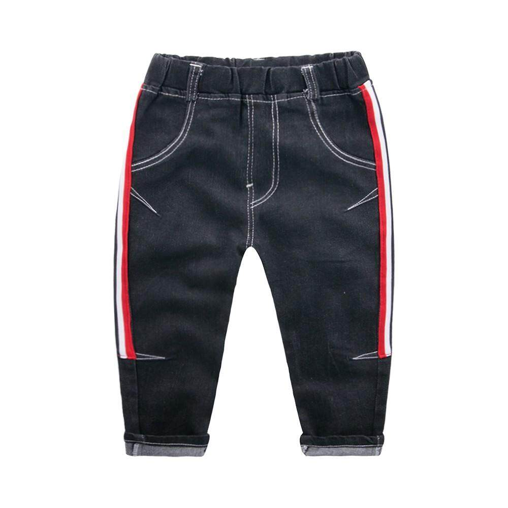 2019 M&k Children Baby Kids Boys Girl Stripe Printed Casual Long Pants Jeans Trousers By Ralphshop.