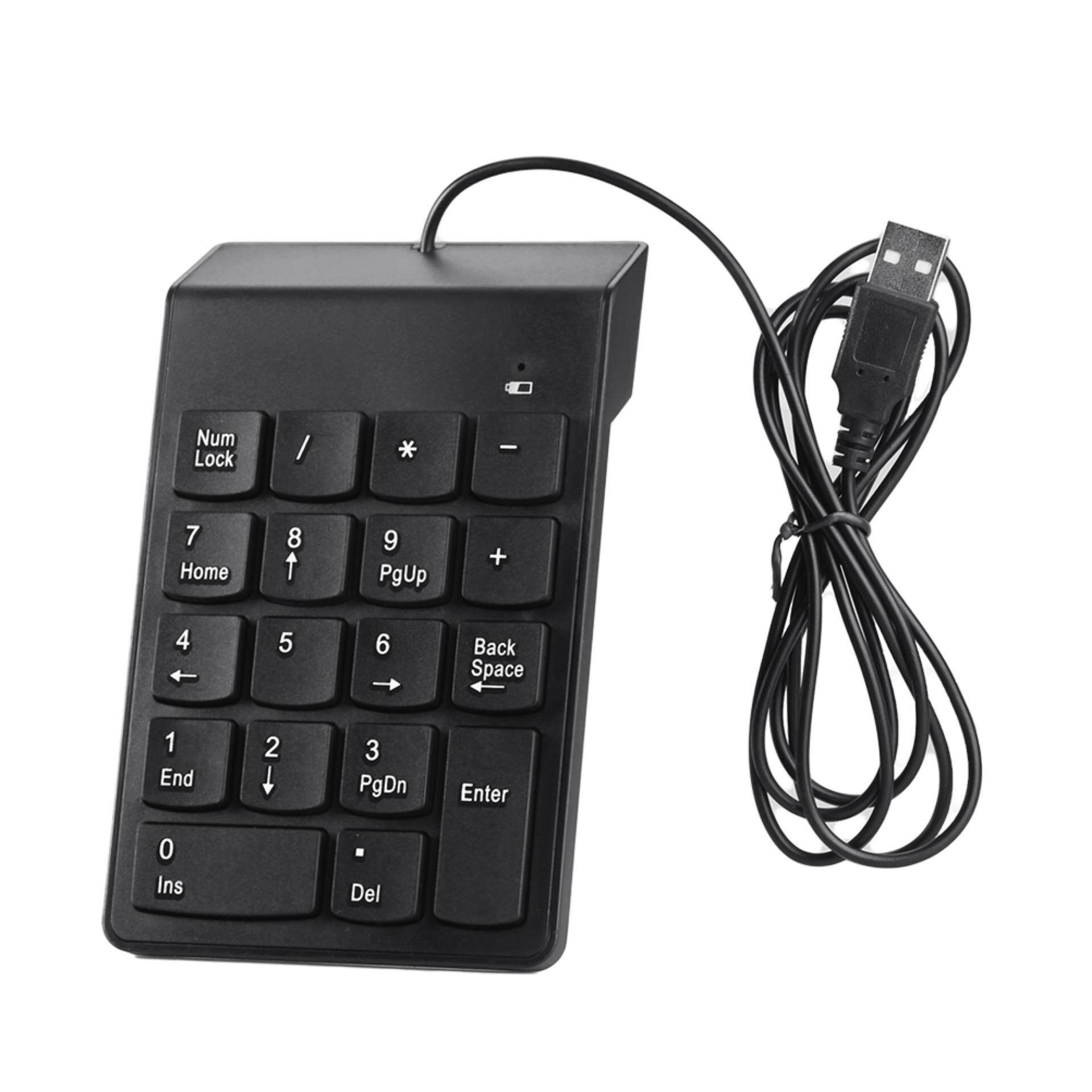USB Number Pad Numpad Numeric Keypad 18 Keys Keyboard For Laptop Deskto PC  Black Malaysia