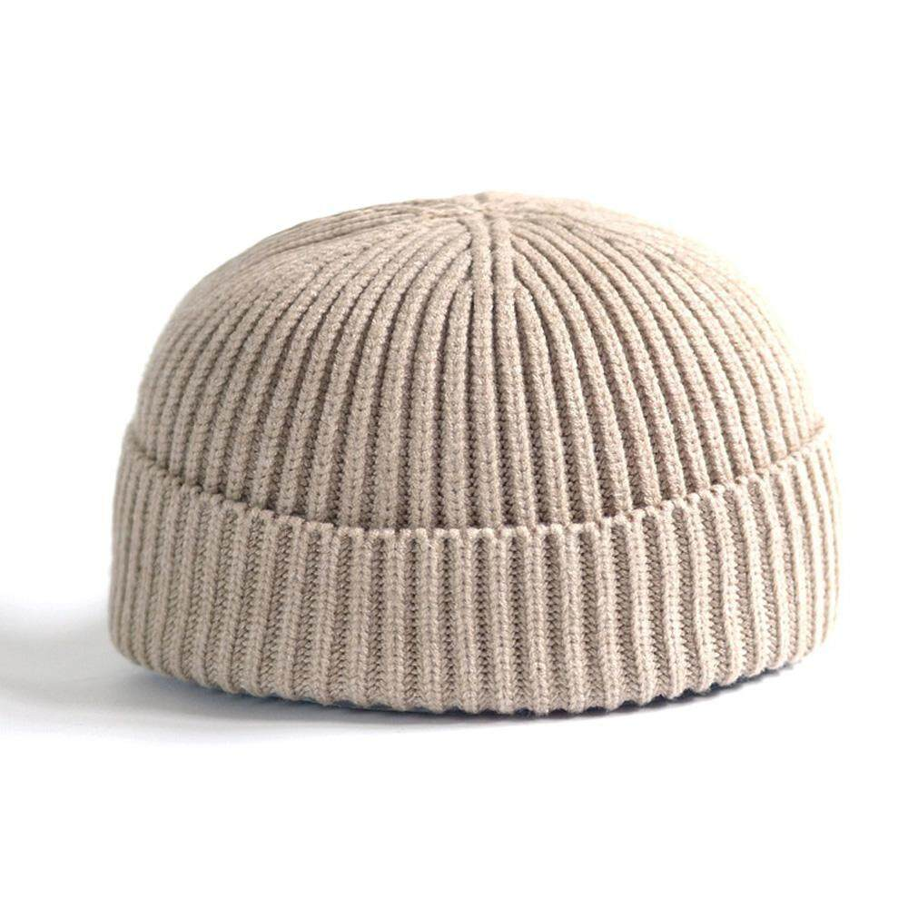 caadadc0 Ishowmall Men Women Knitted Hat Beanie Skullcap Sailor Docker Fisherman Cuff  Brimless Cap