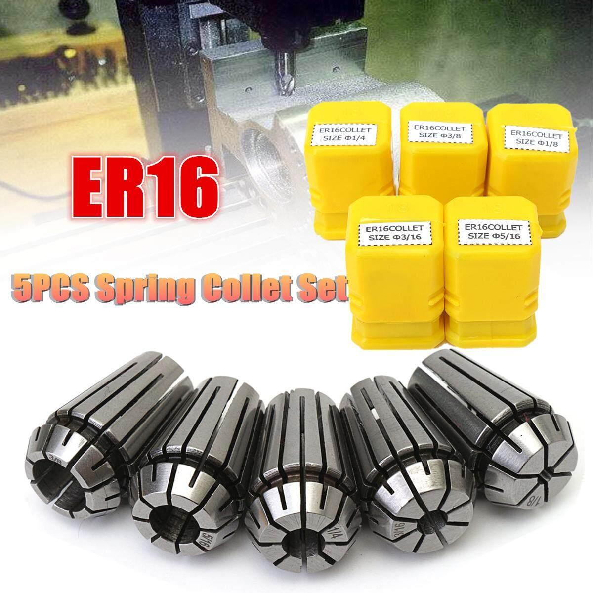 5Pcs ER16 1/8-3/8 Spring Collet Set for CNC Milling Engraving Machine Lathe
