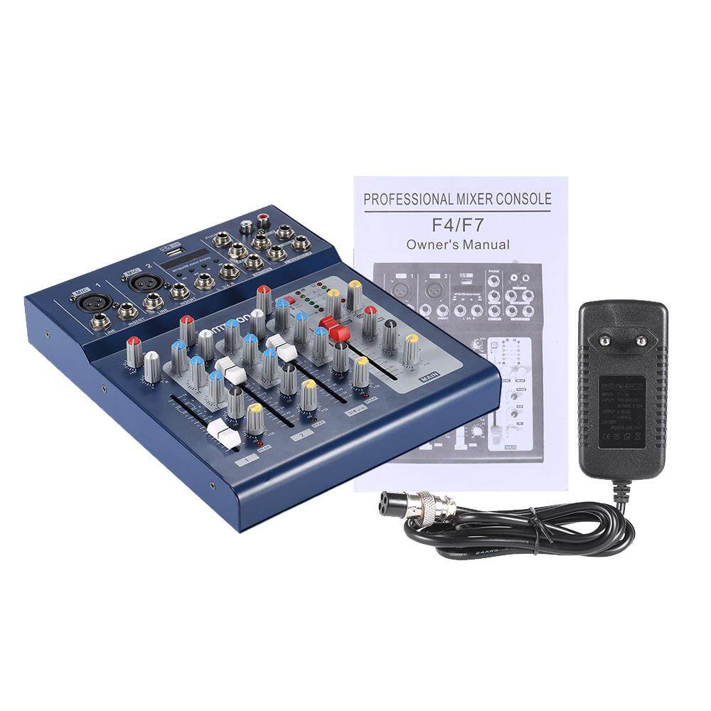 F4-Usb 3 Channel Digital Mic Line Audio Mixing Mixer Console With 48v Phantom Power For Recording Dj Stage Karaoke Music Appreciation Hot By Tomnet.