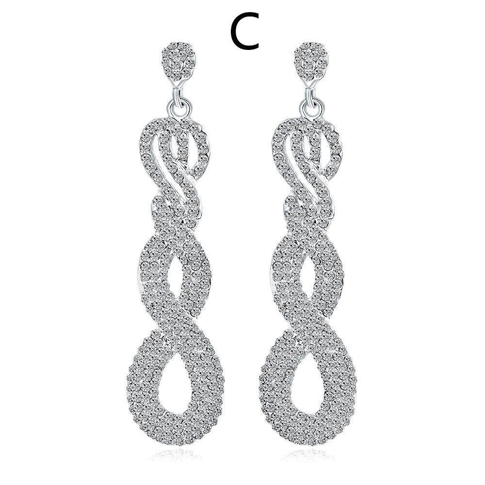Fashion for Girls Zircon earrings Diamond Encrusted love Heart Earring