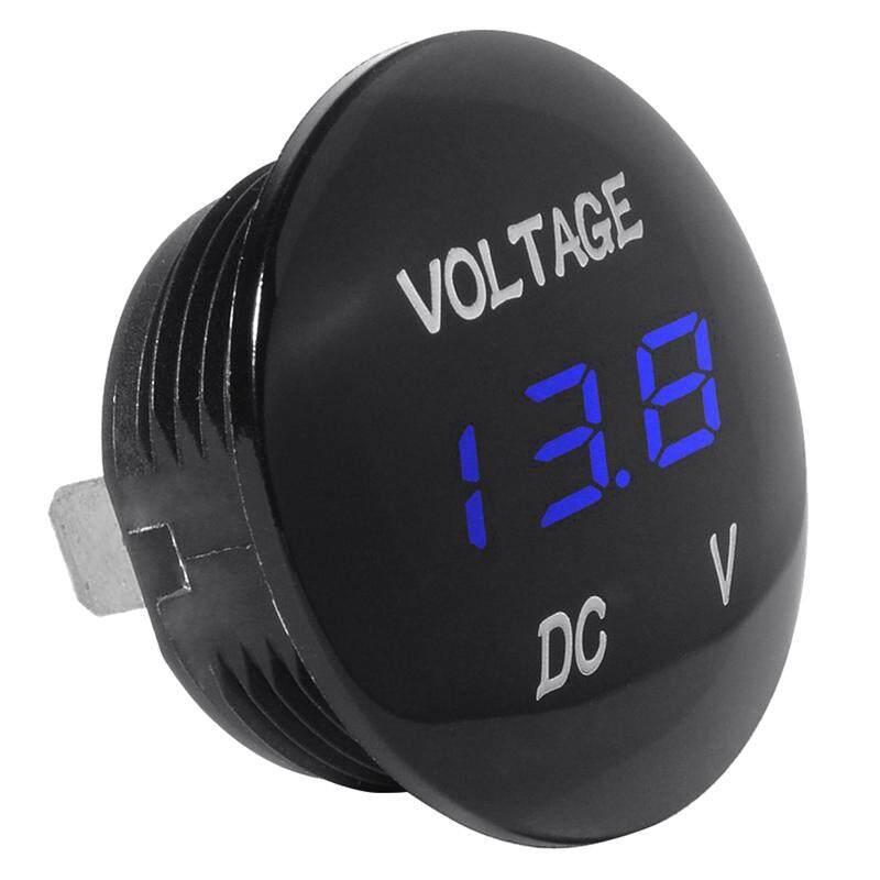 Universal Digital Monitor Voltmeter Waterproof Voltage Meter LED blue for DC 12V-24V Car Motorcycle Auto Truck