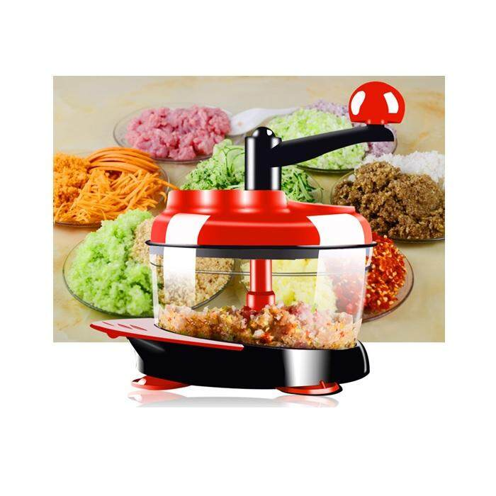 Manual Stainless Steel Blade Food Meat Grinder And Chopper Slicer By Toys & Tots.