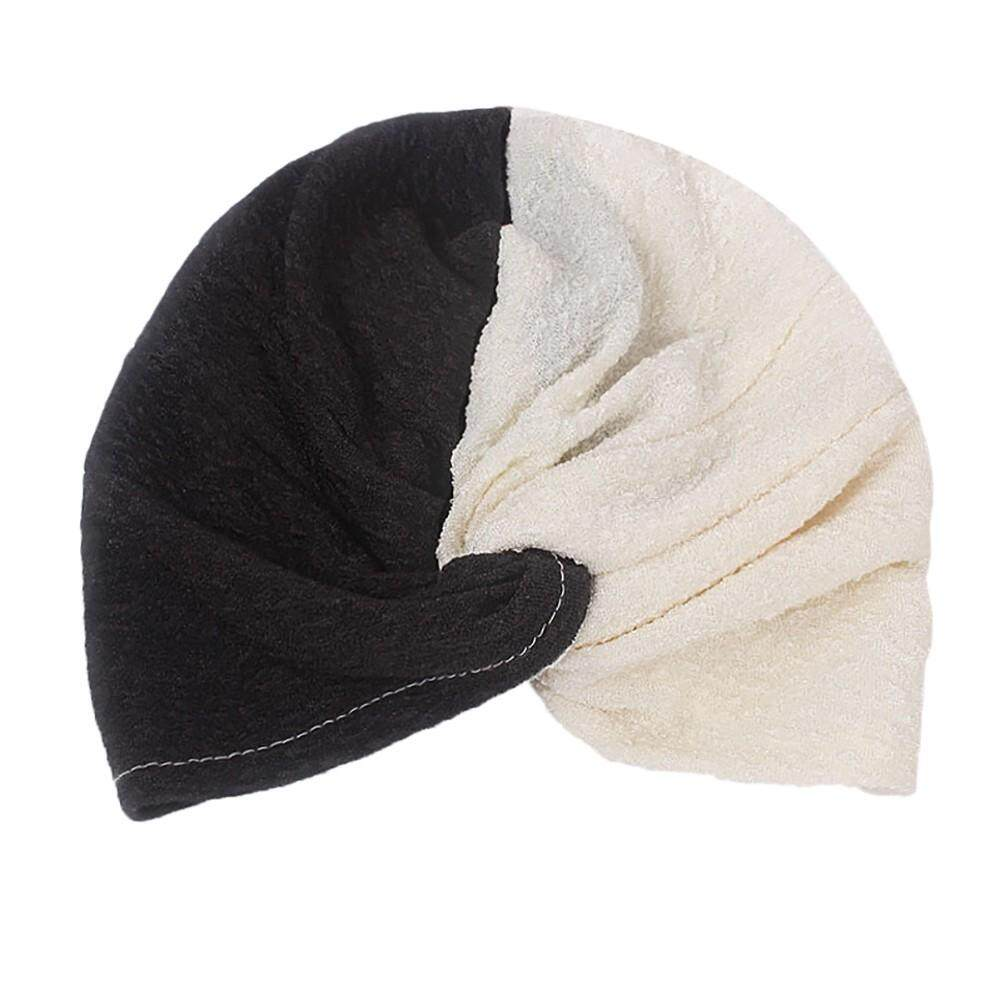 fdd6ae9c5f0 Women Panelled Muslim Hat Stretch Retro Turban Hat Head Scarf Wrap Cap