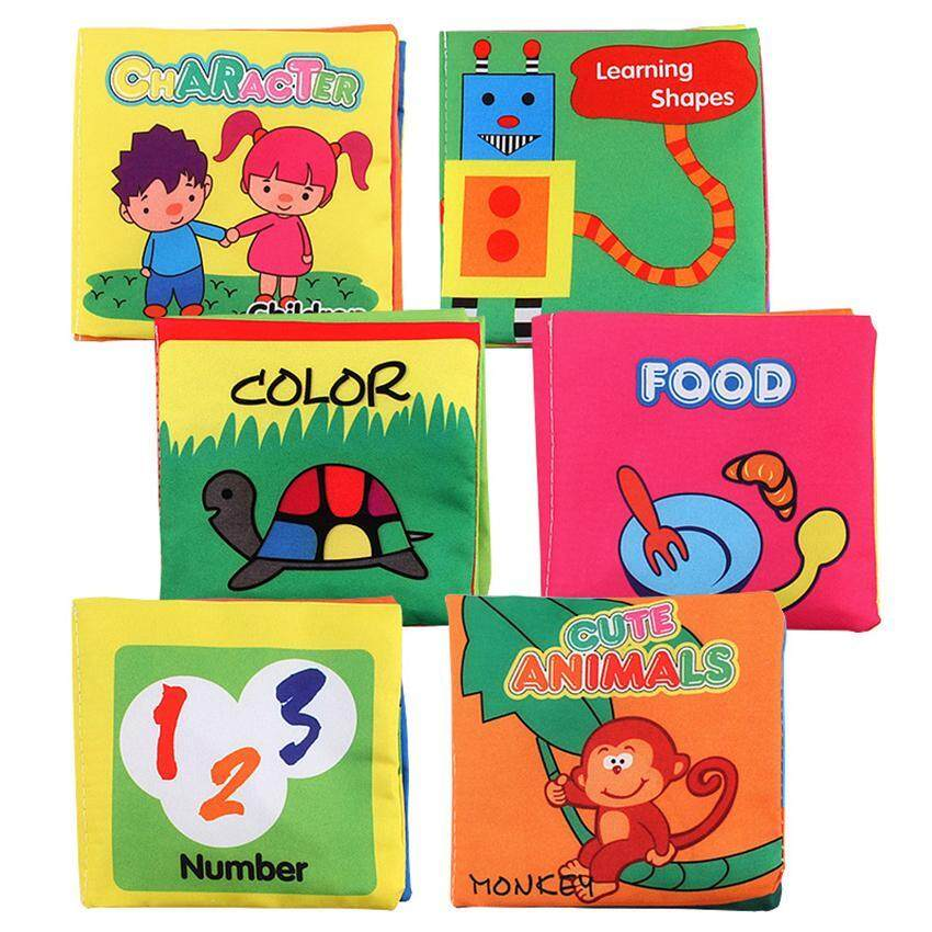 Rhs Online 6pcs Soft Cloth English Books Rustle Sound Infant Educational Toy Newborn Baby Toys By Rhs Online.