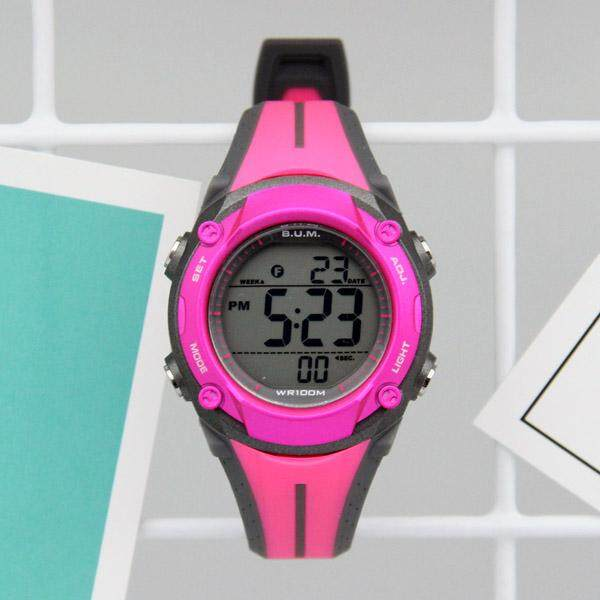 B.U.M. Equipment ladies woman unisex digital chrono EL backlight watch model BF202 Malaysia