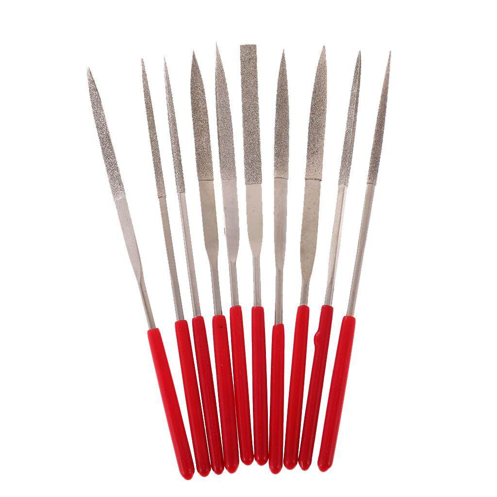 MagiDeal 10pcs Soft Grip Needle File Tools Set for Metal Work Stone Jewelry Making