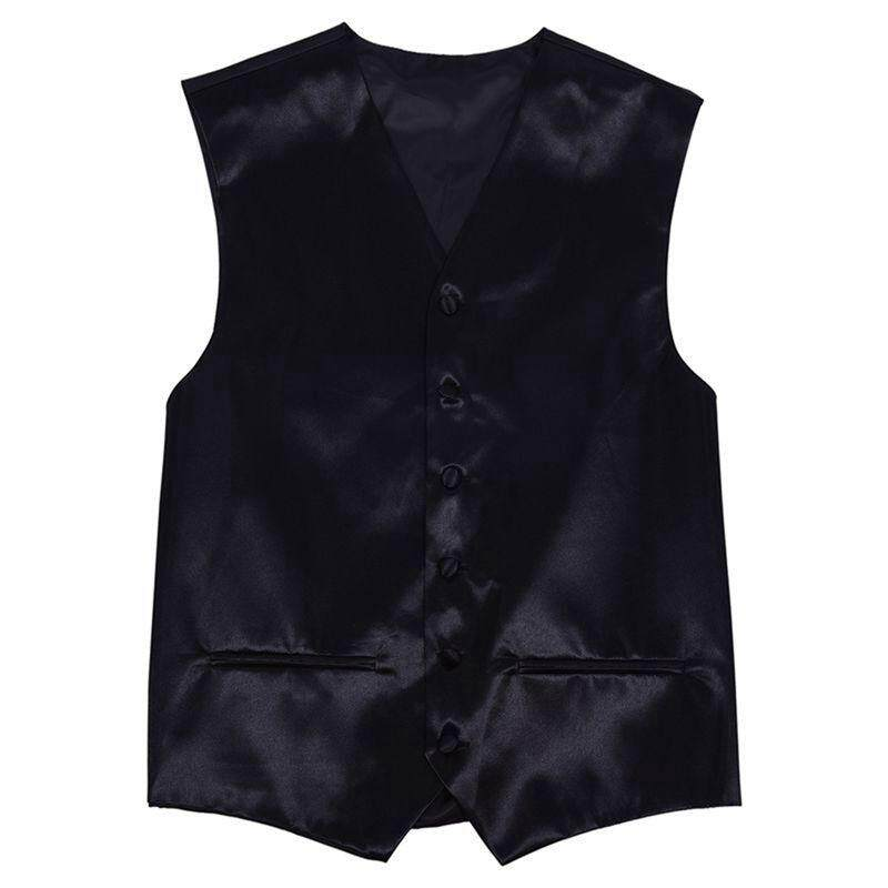 Mens Wedding Waistcoat Groom (black Xxl/uk 44) By Werinc.