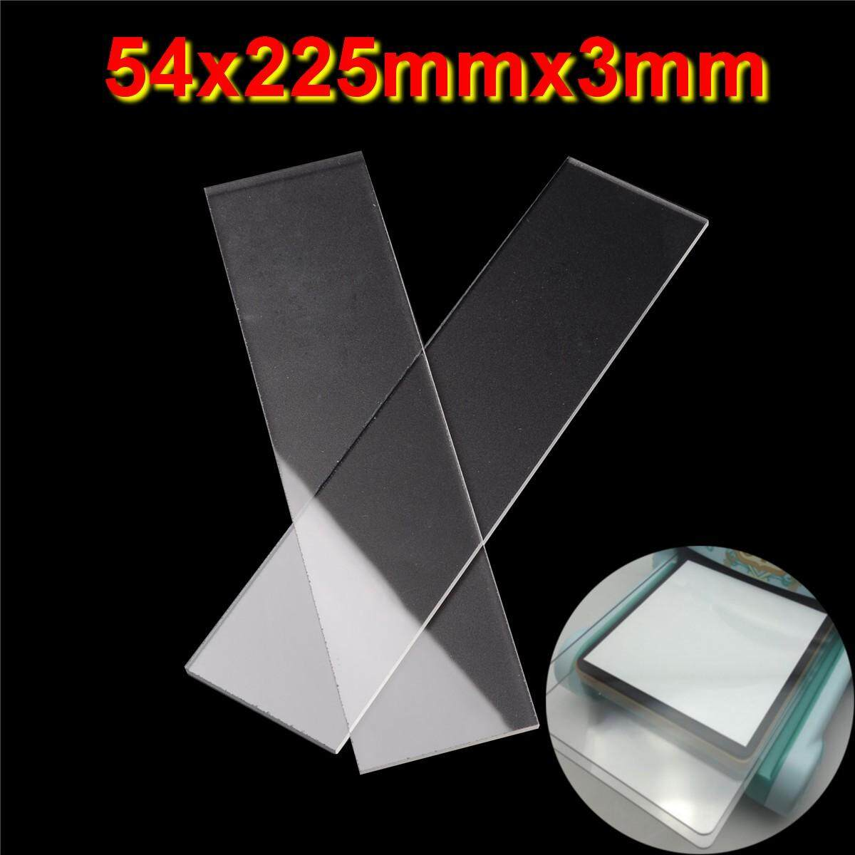 2pcs 54 x 225mm Generic Acrylic Clear Cutting Plates Thick 3mm for Big Shot
