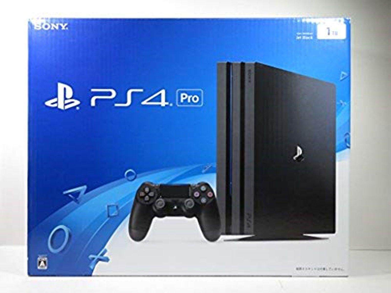 PlayStation 4 PS4 Pro Console Jet Black 1TB