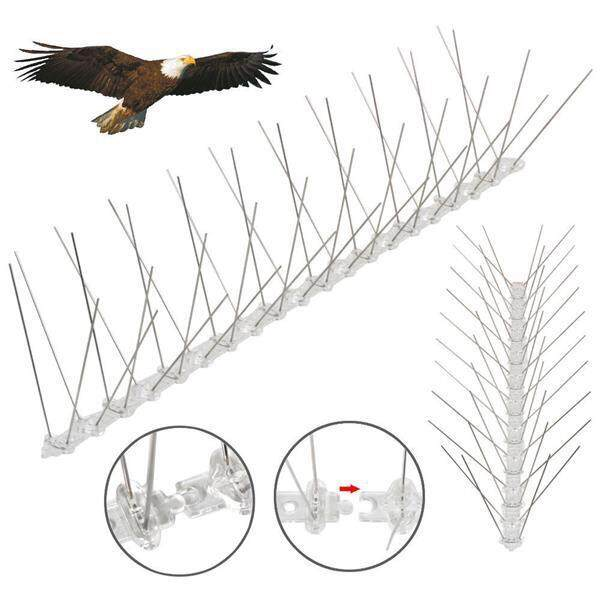 Bird Spike Stainless Steel for small birds pigeons - Repellent Deters Birds (ONE BOX - 50 PCS)