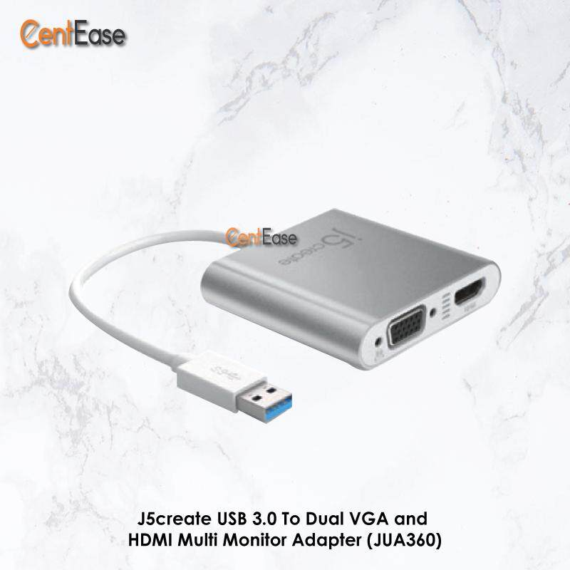 J5create USB 3.0 To Dual VGA and HDMI Multi Monitor Adapter (JUA360) Malaysia