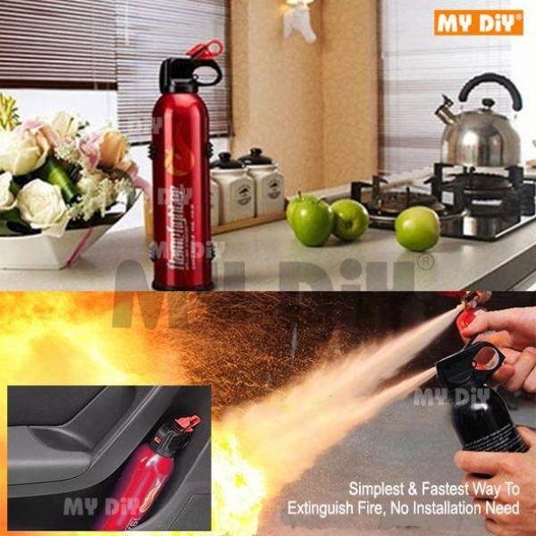 DIYAVENUERESOURCES - Portable Fire Extinguisher Mini Size / Lightweight use for Household, Car, Office, Laboratories or Hotels