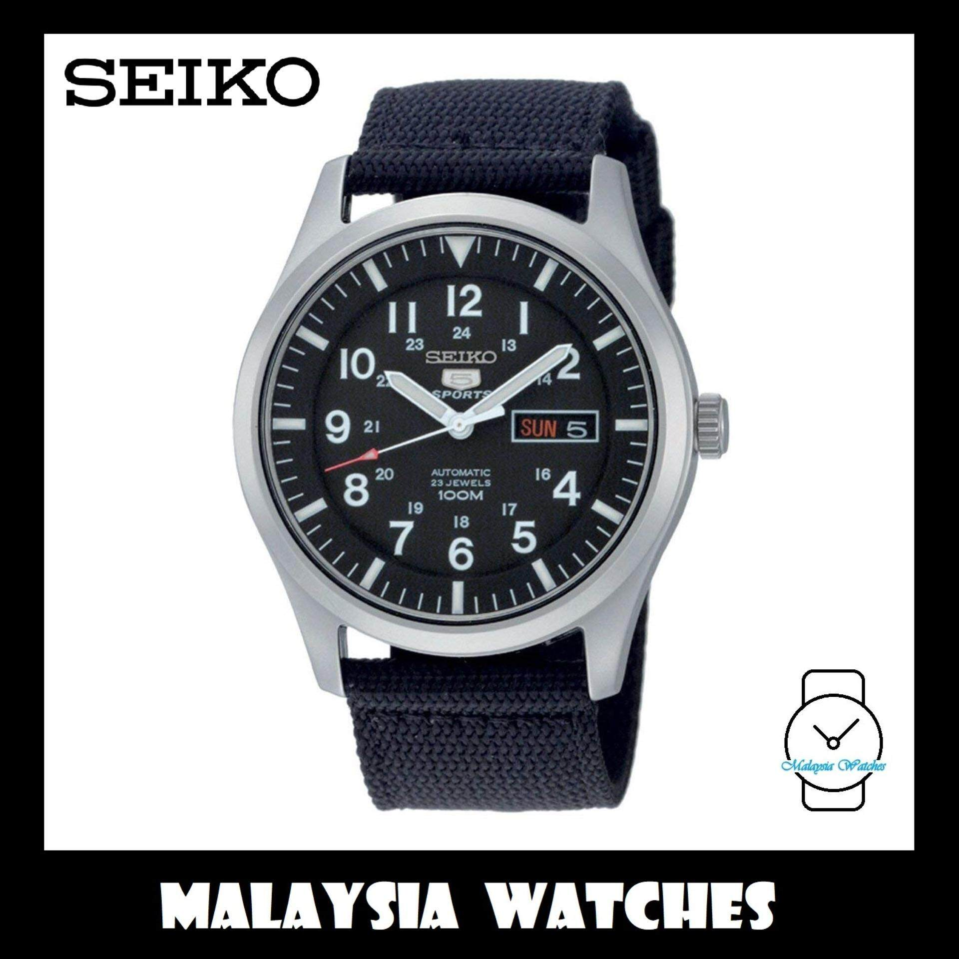 Seiko 5 Sports SNZG15K1 Automatic Black Nylon Strap Watch (100% Original) b6b597a875