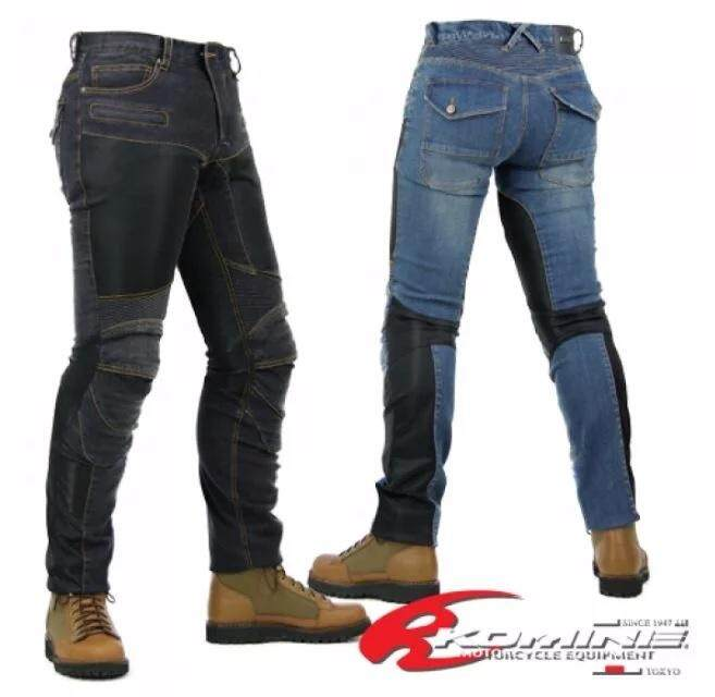 Komine Pk-719 Superfit Kevlar Mesh Denim Jeans Riding Pants With Knee Protection Gears By Nozomic Global.