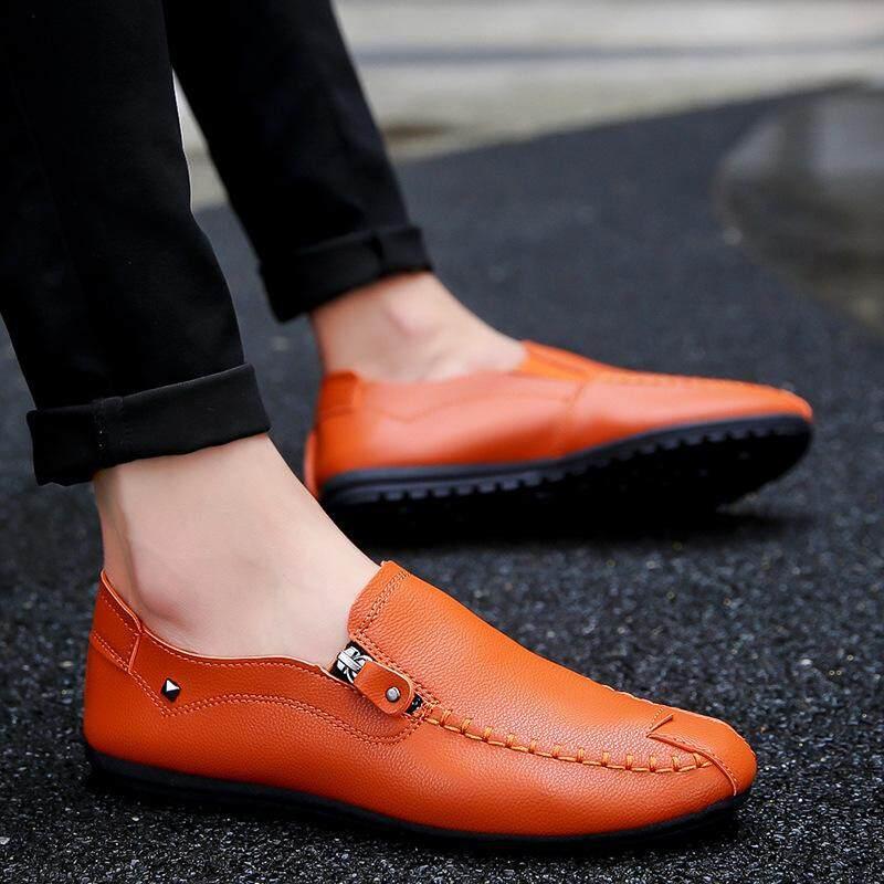 66862416c Beans Shoes Men s Casual Shoes Shoes Korean Shoes Zippers Decorative Feet  Men s ...