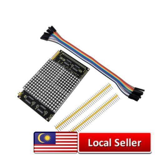 Keyestudio LED Dot Matrix Display Module 16 x 16 Infinite Cascade for Arduino (BLACK) Malaysia