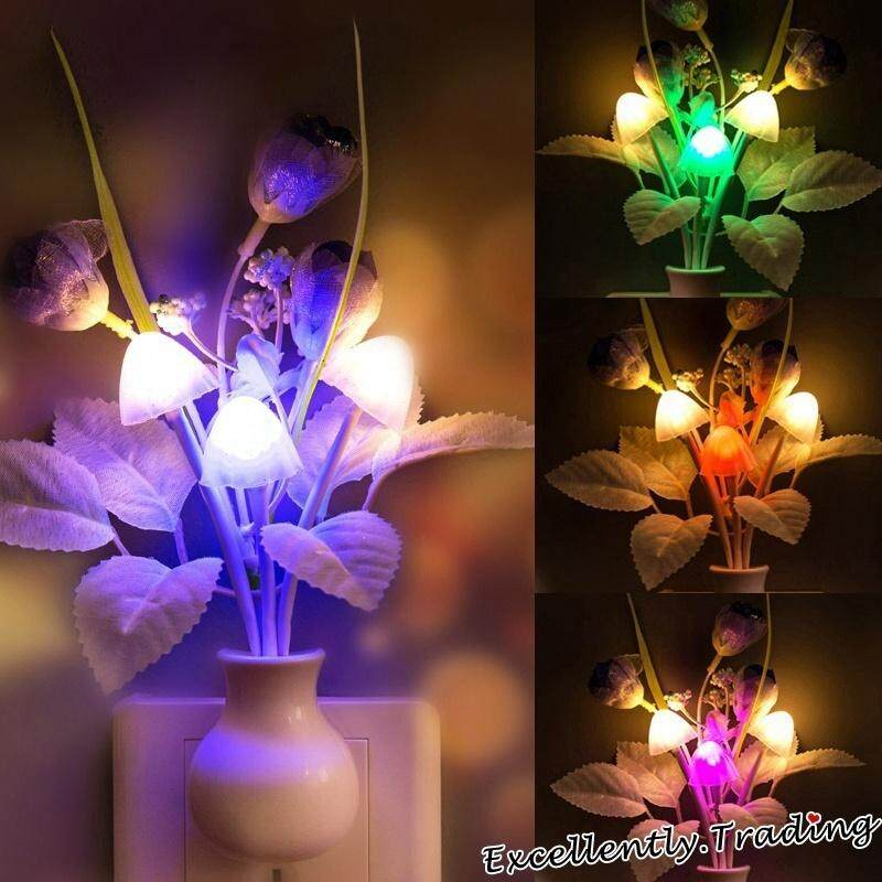 Flowers Mushroom Bedroom Decor Light Sensation Led Night Light Bed Lamp Night Lamp By Tule Dream.