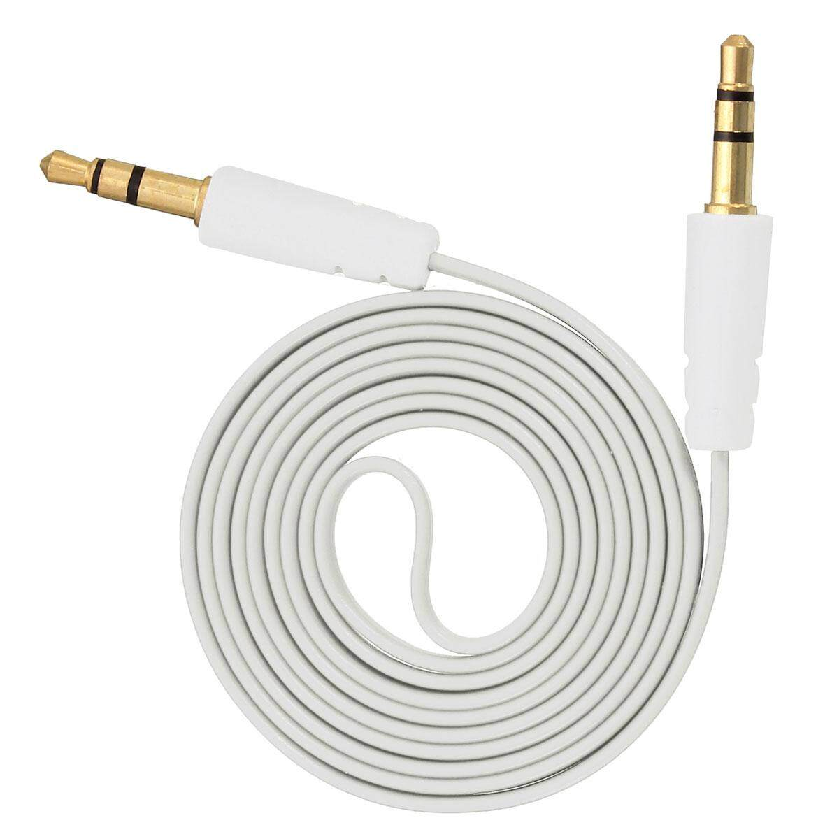 3.5mm Male To Male Flat Noodle Stereo Audio Aux Cable Cord For Iphone Car By Threegold.