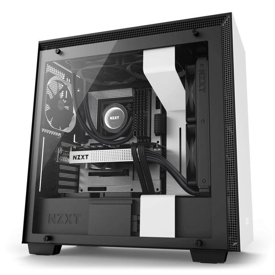 # NZXT H700 Mid-Tower Case with Tempered Glass # Matte Black | Matte White Malaysia
