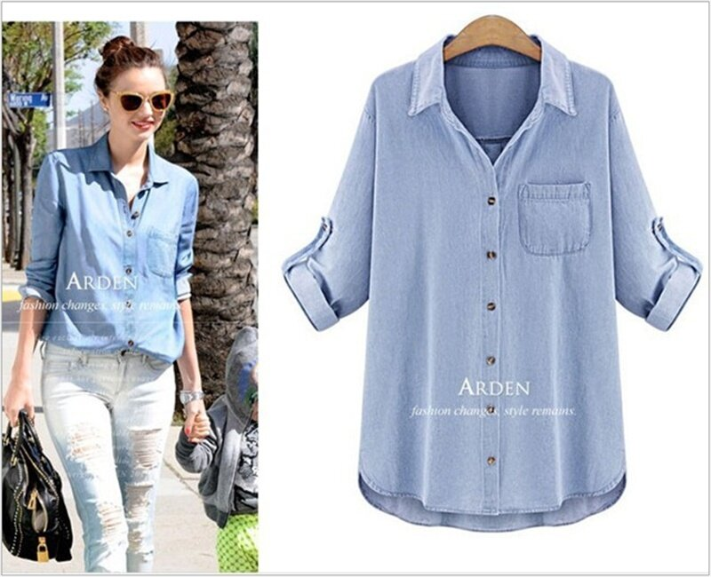 d4cea99487e Specifications of COCOEPPS 2019 Women's Clothing Short Sleeve Shirts  Pockets Fashion Tops Soft T-Shirts Loose Denim Shirts Solid Color